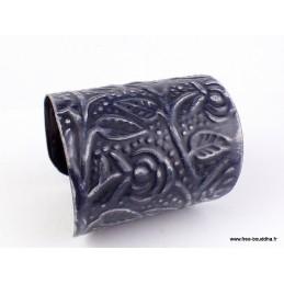 Bracelet manchette métal noir Bracelets pierres naturelles BRM10