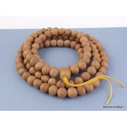 Mala de prières bouddhiste en véritables Graines de Bodhi BM16