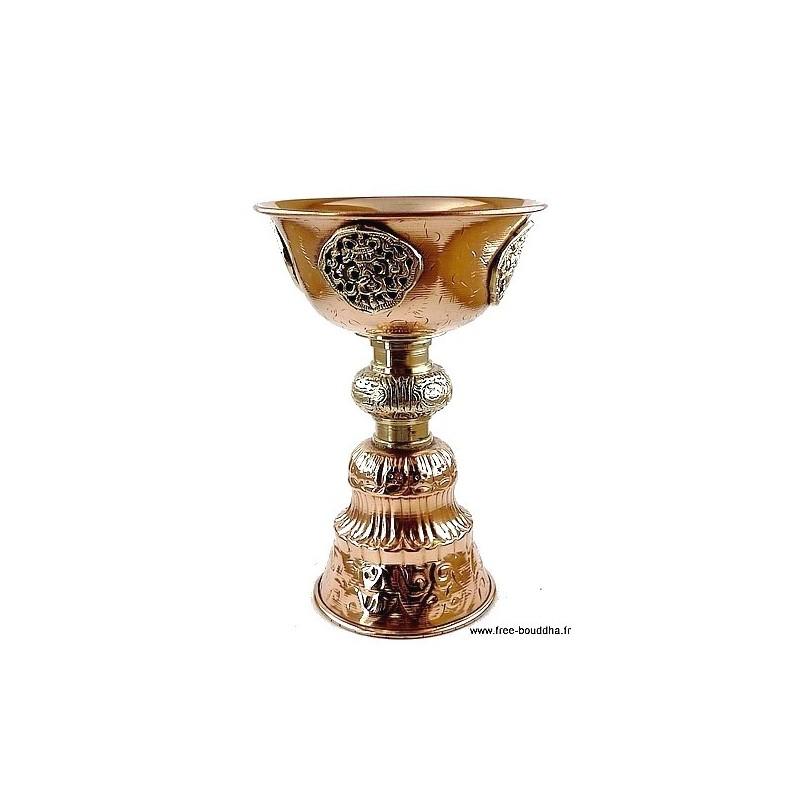 Lampe à beurre tibétaine 15 cm UN8