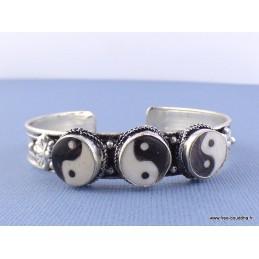 Bracelet tibétain 3 pierres Ying Yang Bijoux tibetains bouddhistes  BYY1