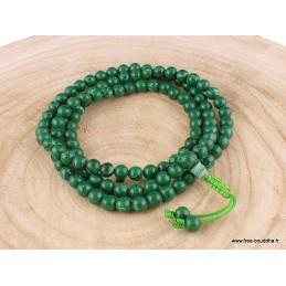 Mala tibétain 108 perles de Malachite AA125.2