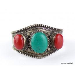 Bracelet tibétain pierres fantaisie Bijoux tibetains bouddhistes  FSTO1