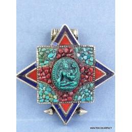 Deux pendentifs tibétains Ghau défaut d'aspect Bijoux tibetains bouddhistes  PGA335