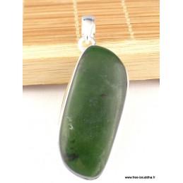Pendentif en Jade Néphrite forme asymétrique Pendentifs pierres naturelles CZ10.2