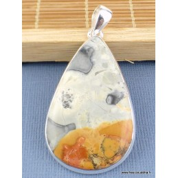 Pendentif en Jaspe Malingano forme goutte Pendentifs pierres naturelles TUV2