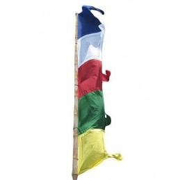 Drapeau tibétain vertical 4 mètres DV4M