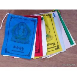 10 drapeaux tibétains décorés de mantras DSA2