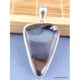 Pendentif Opale Boulder dégradé de bleu Pendentifs pierres naturelles CZ60.3