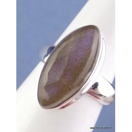 Bague Labradorite pourpre forme marquise T 60 Bagues pierres naturelles CZ93.2