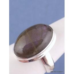 Bague Labradorite pourpre ovale T 60 Bagues pierres naturelles CZ93.4