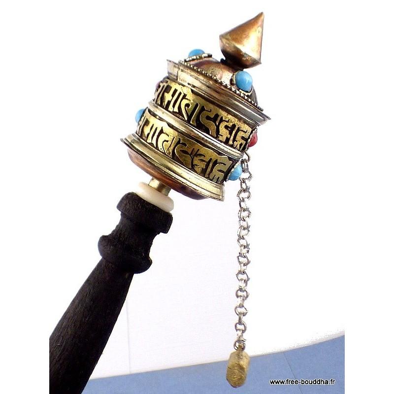 Petit moulin à prières tibétain à main 19 cm moulin 67.4