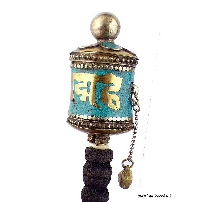 Mini moulin à prières tibétain à main 10,5 cm 6111.5