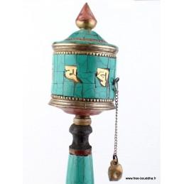 Moulin à prières bouddhiste mantra de Chenrezi 20 cm MAPZ20