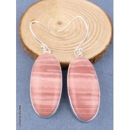 Boucles d'oreilles Opale Rose d'Australie ovales Bijoux en Opales TUV45