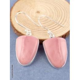 Boucles d'oreilles Opale Rose d'Australie semi-ovales Bijoux en Opales TUV45.1