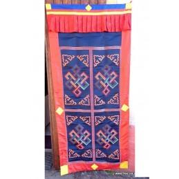 Rare tenture bouddhiste bhoutanaise en soie TENBO3
