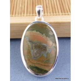 Pendentif oval en Rhyolite Pendentifs pierres naturelles CZ73.4