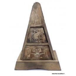 Boîte à bijoux indienne style ethnique Artisanat tibétain bouddhiste BAB2