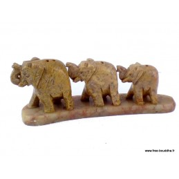 Porte encens Elephants en Onyx PEBB2