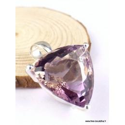 Pendentif Amétrine naturelle triangulaire facettée Pendentifs pierres naturelles TUV65.3