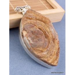 Pendentif Pierre du Désert couleur sable Pendentifs pierres naturelles JA19