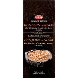 Encens indien Benjoin de Siam hexagonal BENJH1
