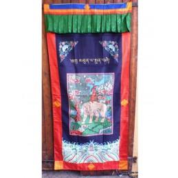 Tenture bouddhiste 4 amis (Bhoutan) en soie TENBO3.1