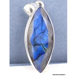 Pendentif Labradorite bleue facettée forme marquise Pendentifs pierres naturelles TUV46.2