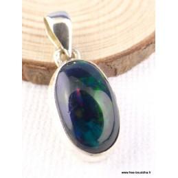 Exceptionnelle Opale noire de Calama bleue verte rouge Bijoux en Opales TUV42.3