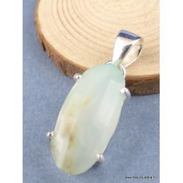 Pendentif Opale du Pérou vert pâle Pendentifs pierres naturelles TUV48.3