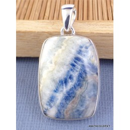 Pendentif Scheelite bleue rectangulaire Pendentifs pierres naturelles PAC5