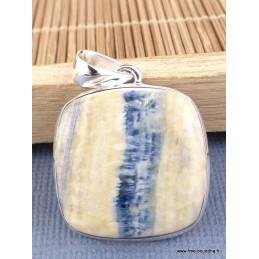 Pendentif Scheelite bleue et jaune Pendentifs pierres naturelles PAC5.1