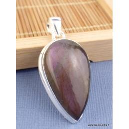 Pendentif goutte Labradorite violette Pendentifs pierres naturelles TUV73.6