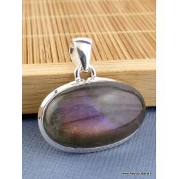 Pendentif oval vertical Labradorite violette Pendentifs pierres naturelles TUV73.7