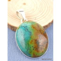 Pendentif en Turquoise naturelle verte marron Pendentifs pierres naturelles PAC8