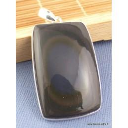 Pendentif Obsidienne Oeil Céleste oeil bleu Pendentifs pierres naturelles PAC11