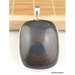 Gros pendentif Obsidienne Oeil Céleste oeil bleu Pendentifs pierres naturelles PAC11.1