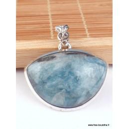 Pendentif Cyanite bleu Paraiba cabochon demi-lune Pendentifs pierres naturelles PAC17.1