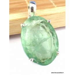 Pendentif Fluorite verte forme ovale Pendentifs pierres naturelles PAC20.1