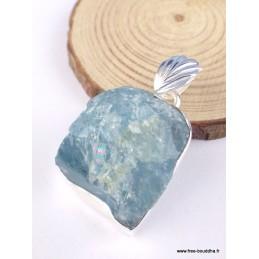 Pendentif en Aigue-marine brute asymétrique Pendentifs pierres naturelles PAC23.1