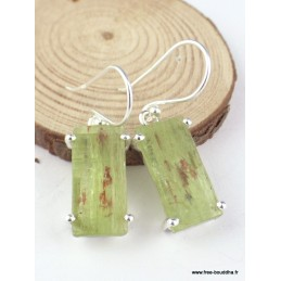 Boucles d'oreilles Cyanite verte brute Boucles d'oreilles en pierres PAC24