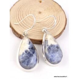 Boucles d'oreilles en Sodalite forme goutte Boucles d'oreilles en pierres PAC26.1