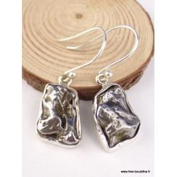Boucles d'oreilles Campo del Cielo serties clos Boucles d'oreilles en pierres PAC29.1