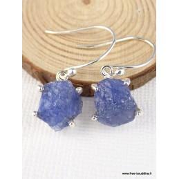 Boucles d'oreilles Tanzanite brute Boucles d'oreilles en pierres PAC32