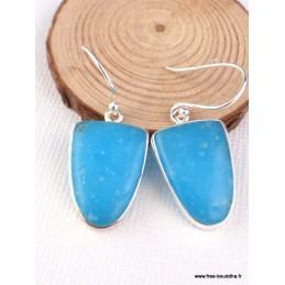 Boucles d'oreilles Smithsonite semi-ovales Pendentifs pierres naturelles PAC33
