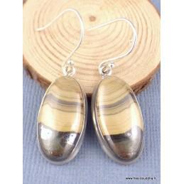 Boucles d'oreilles Schalenblende ovales Bijoux en Schalenblende PAC34.1