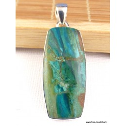 Pendentif Opale du Pérou rectangulaire Pendentifs pierres naturelles PAC38.2