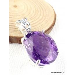 Pendentif Améthyste pourpre rose Pendentifs pierres naturelles PAC41.1