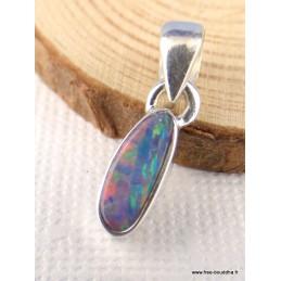 Pendentif en Opale Australienne rose bleu et vert Pendentifs pierres naturelles PAC49.1