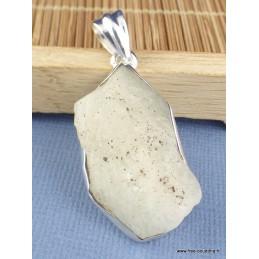 Verre de Lybie pendentif asymétrique Pendentifs pierres naturelles PAC50.1